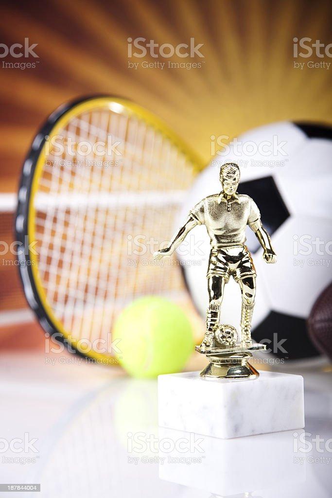 Sports Equipment and sunshine royalty-free stock photo