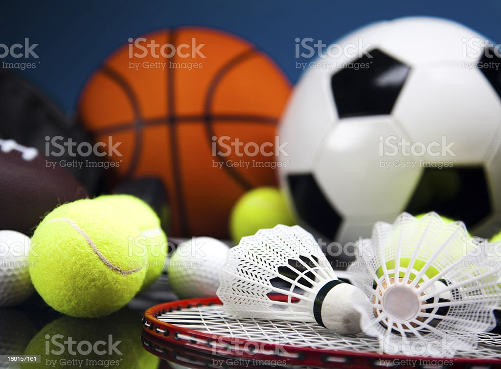 Sports Equipment detail stock photo