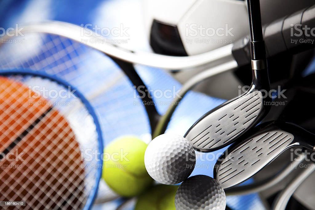 Sports Equipment detail royalty-free stock photo