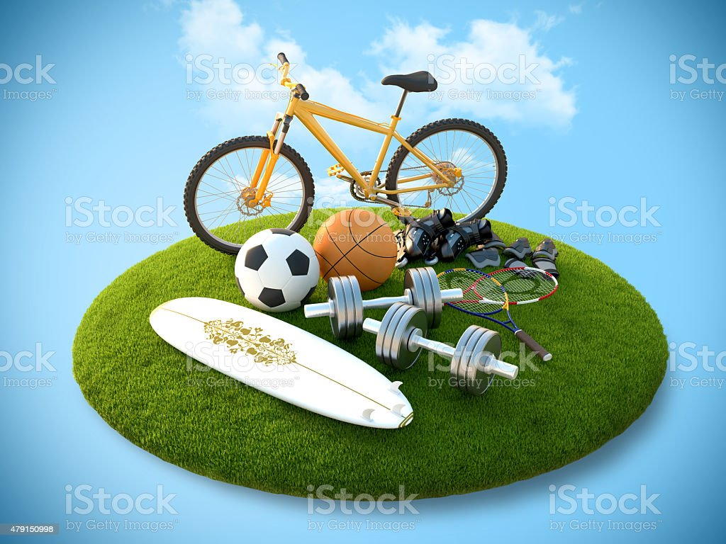 Équipements de sport photo libre de droits