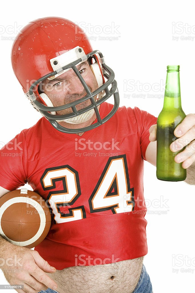 Sports Fan - Have a Cold One royalty-free stock photo
