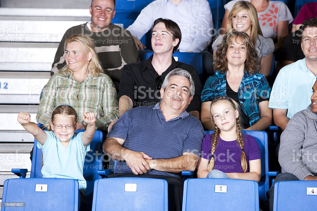 Sports Fans:  Cheering Crowd Audience Stadium Sporting Event Mixed Race royalty-free stock photo