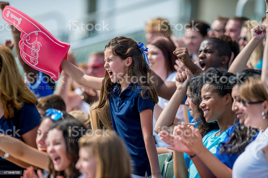 Sports Fans stock photo