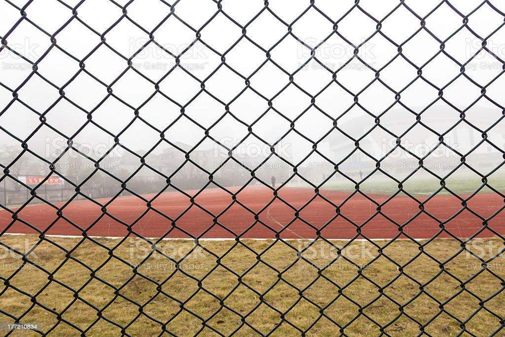 sports fence royalty-free stock photo