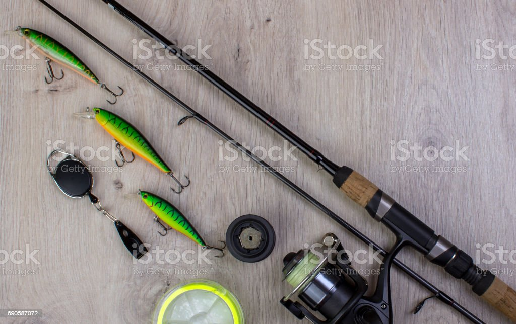 sports fishing background stock photo