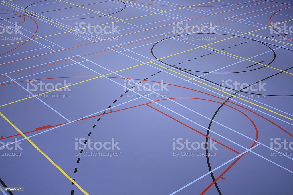 Sports floor royalty-free stock photo