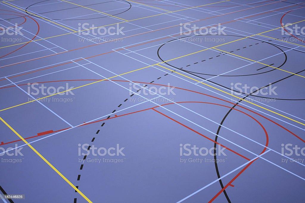 Sports floor stock photo