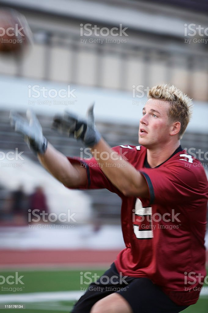 sports football player practice royalty-free stock photo