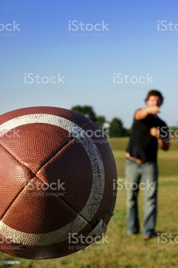 sports football quarterback pass royalty-free stock photo
