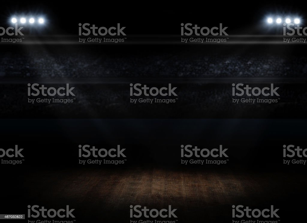 Sports hall interior stock photo