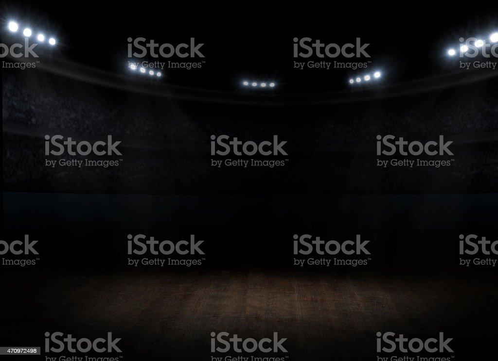 Sports hall interior stock photo