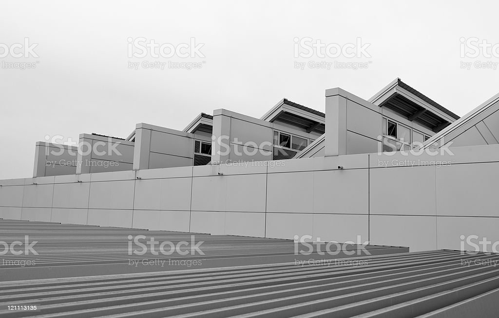 Sports Hall's Metal Roof royalty-free stock photo