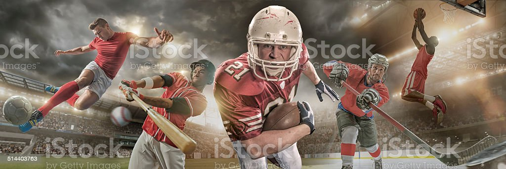 Sports Heroes royalty-free stock photo