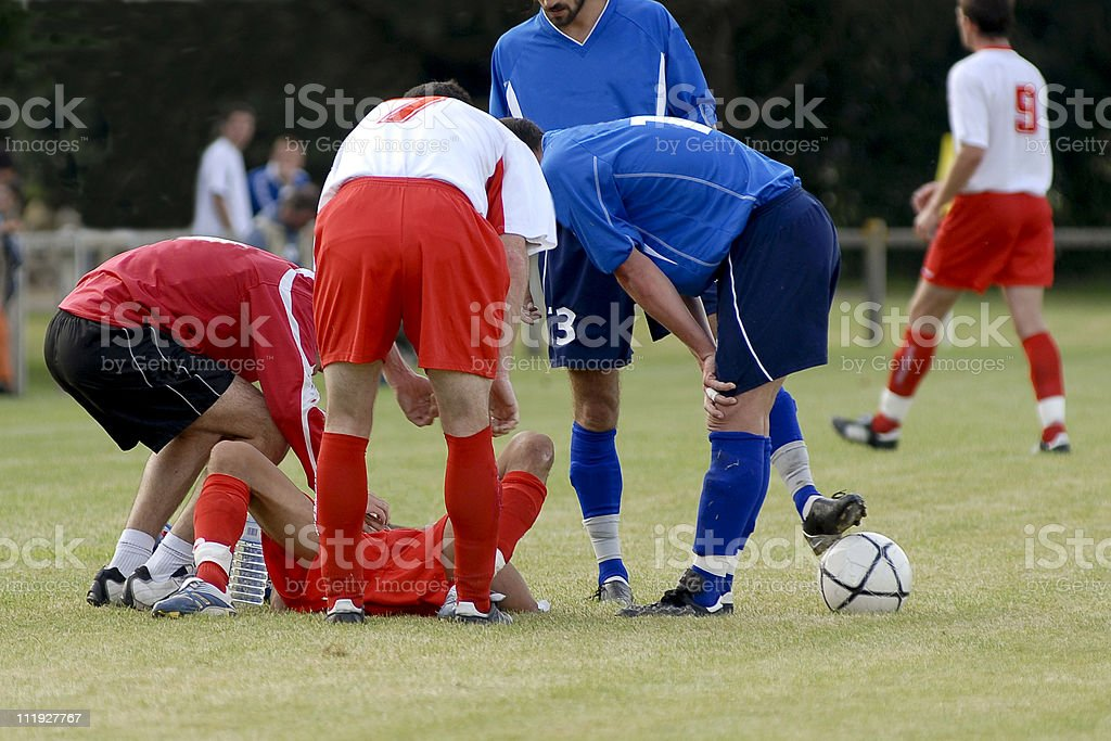 blessure sportive stock photo