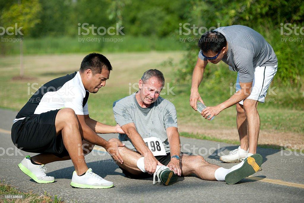 Sports injury stock photo