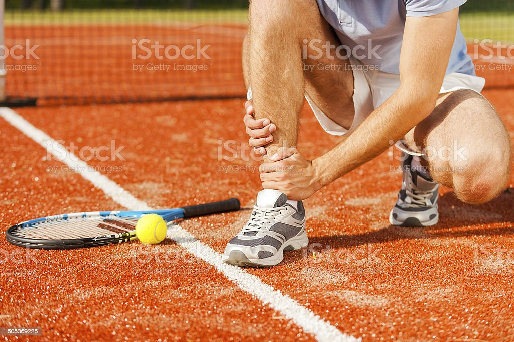 Sports injury. stock photo