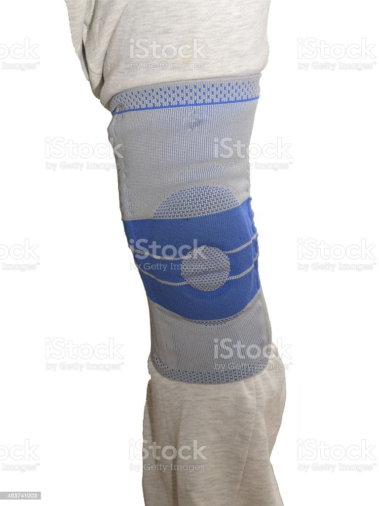 Sports knee brace royalty-free stock photo