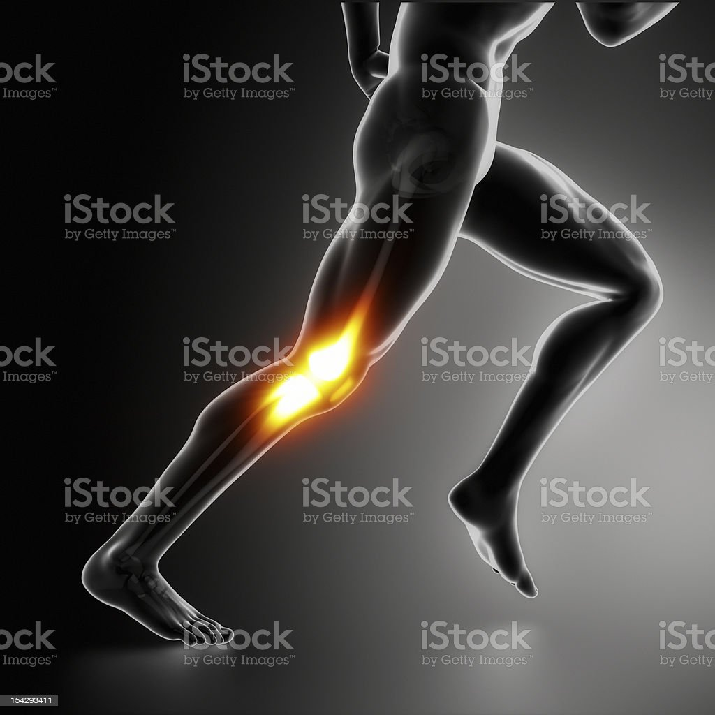 Sports Knee pain concept stock photo