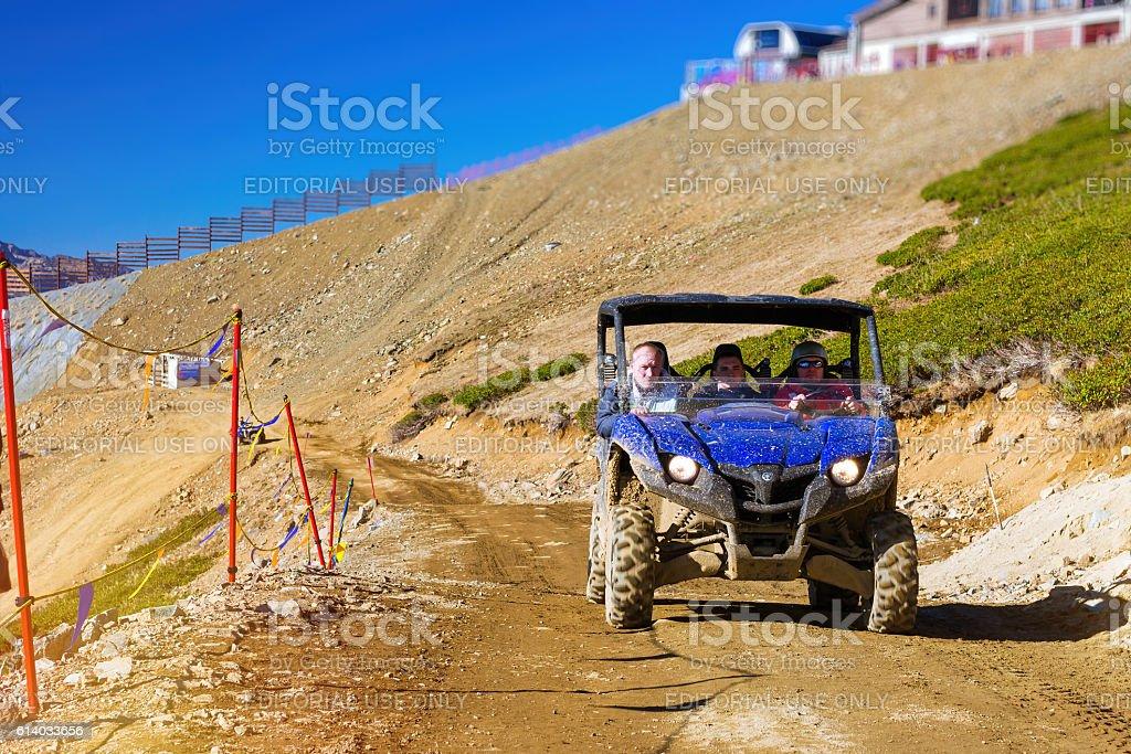 Sports mountain ATV Quad Bike, Krasnaya Polyana, Sochi stock photo