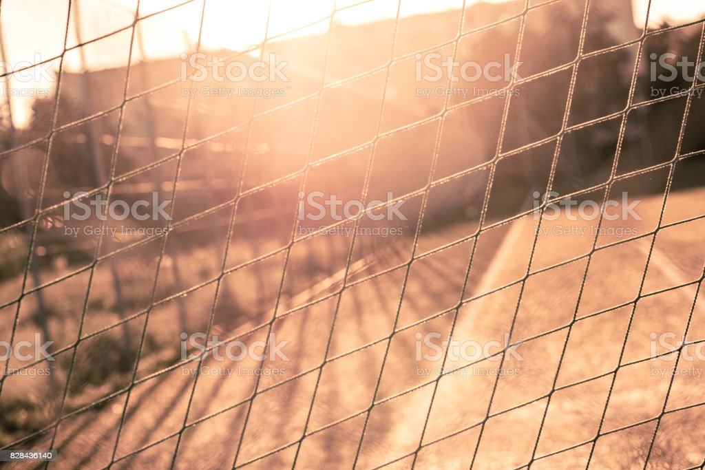 Sports net on the court stock photo