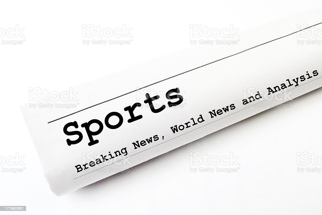 Sports newspaper royalty-free stock photo