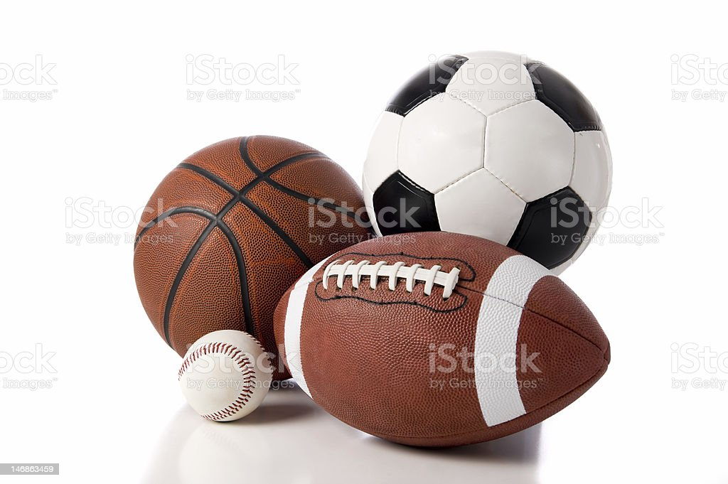 Sports Objects royalty-free stock photo