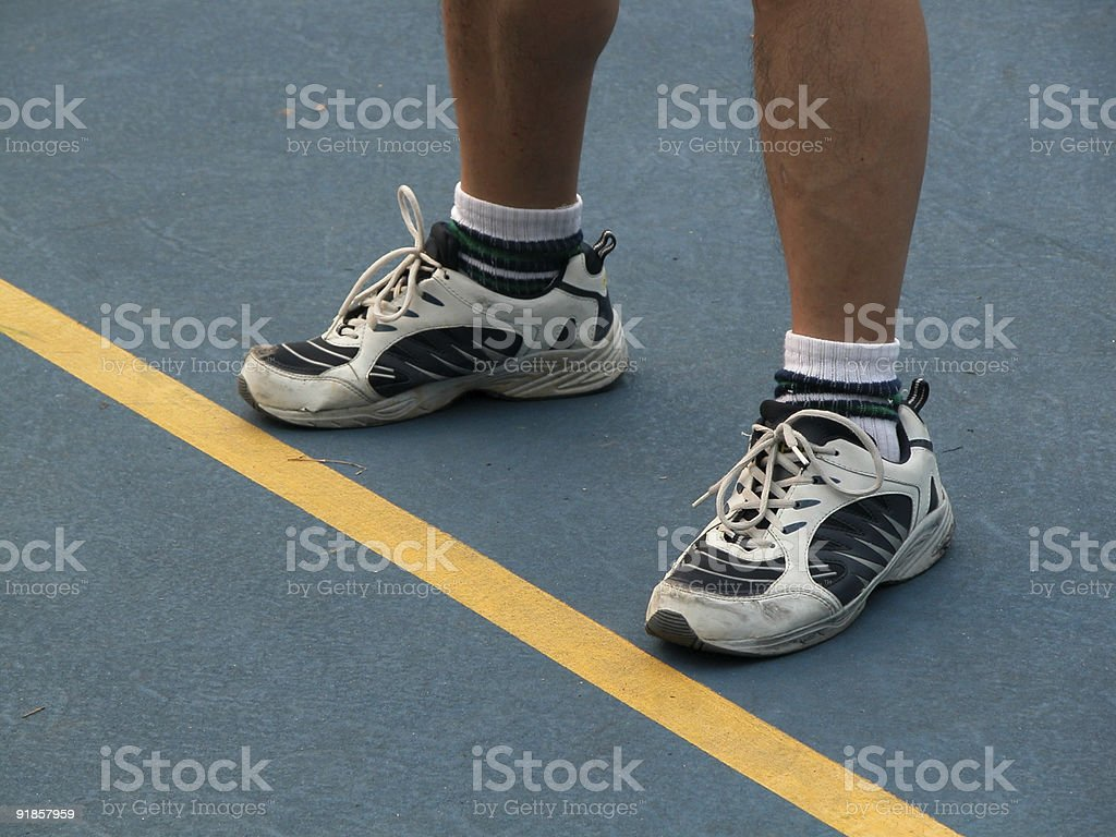 Sports on the Line - Competing with Opponent royalty-free stock photo