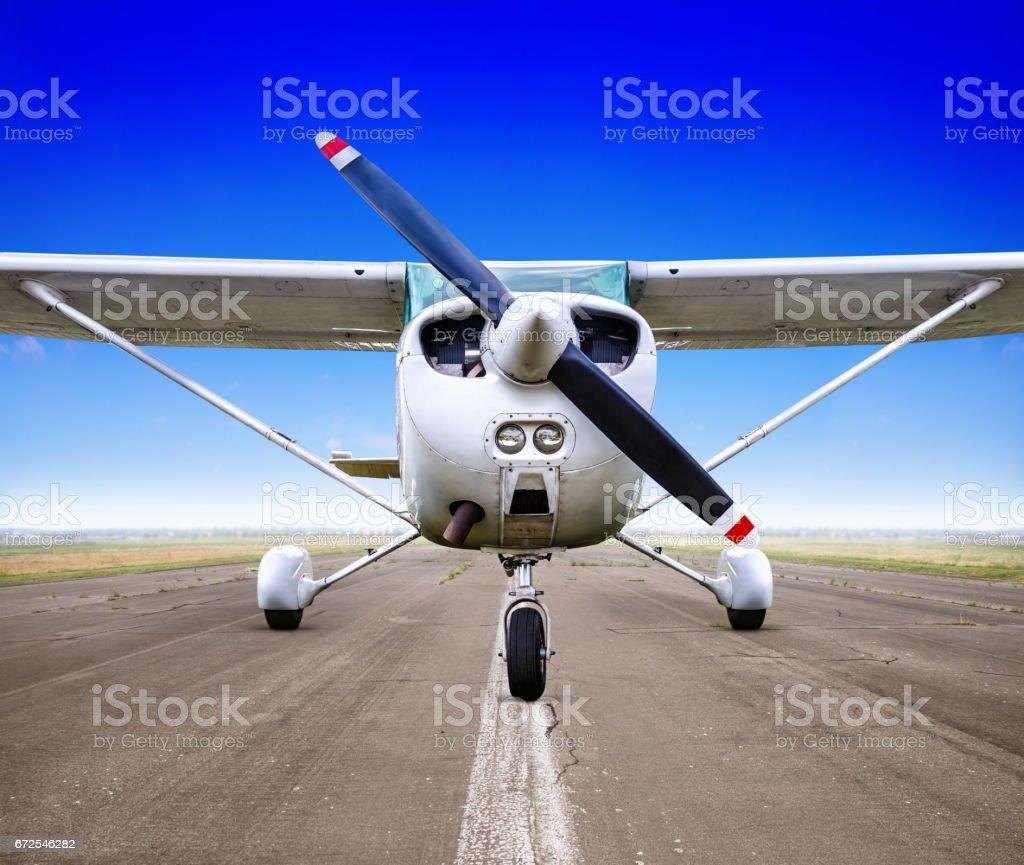 sports plane stock photo
