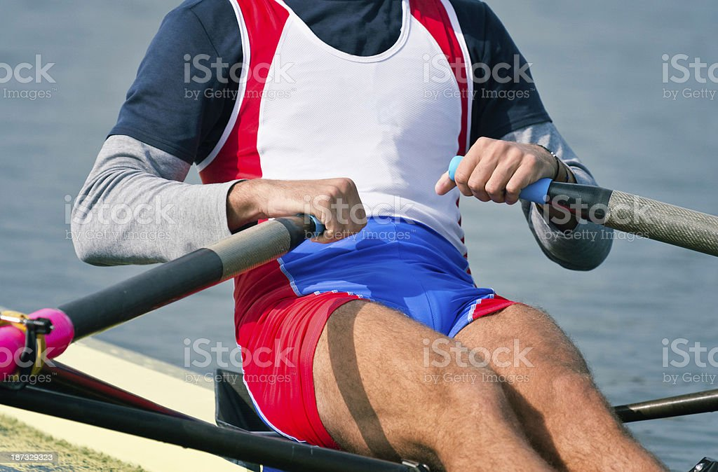Sports rowing athlete royalty-free stock photo
