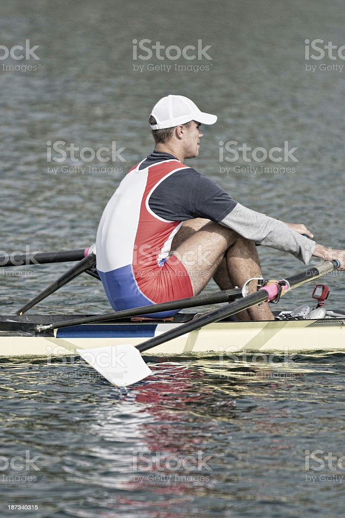 Sports rowing royalty-free stock photo