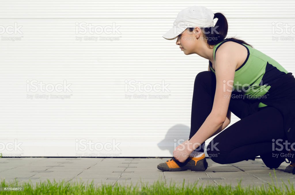 sports running shoes stock photo
