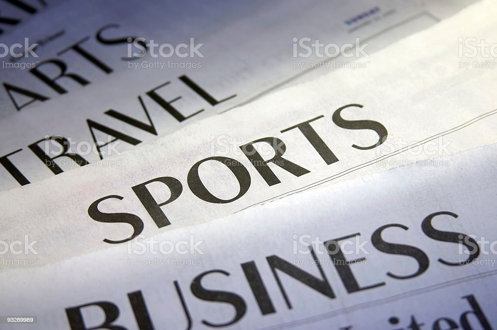 Sports Section royalty-free stock photo