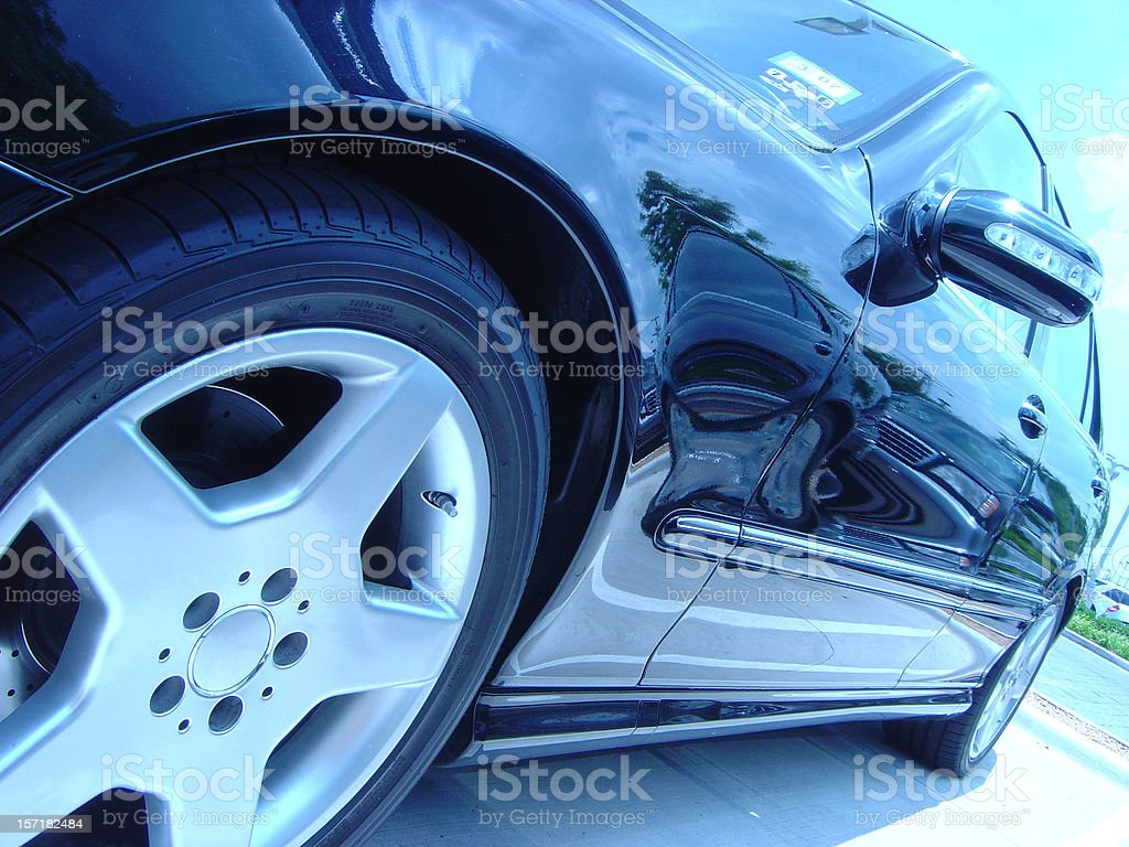 Sports Sedan with Steel Blue Tint royalty-free stock photo