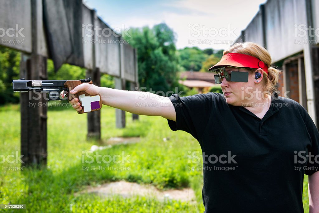 Sports shooting stock photo