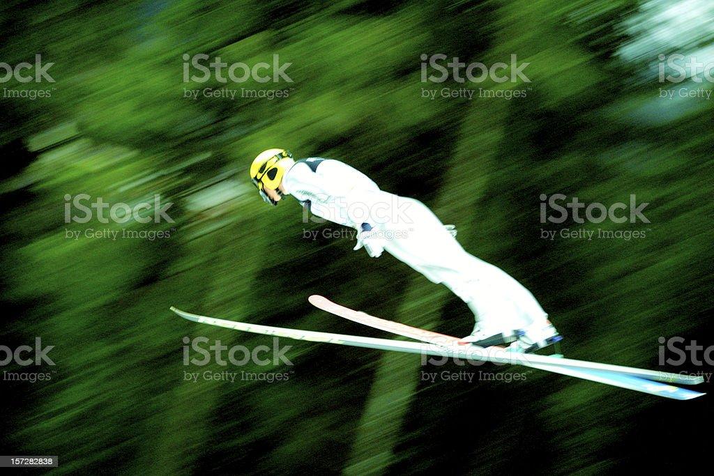 Sports, ski jumper stock photo