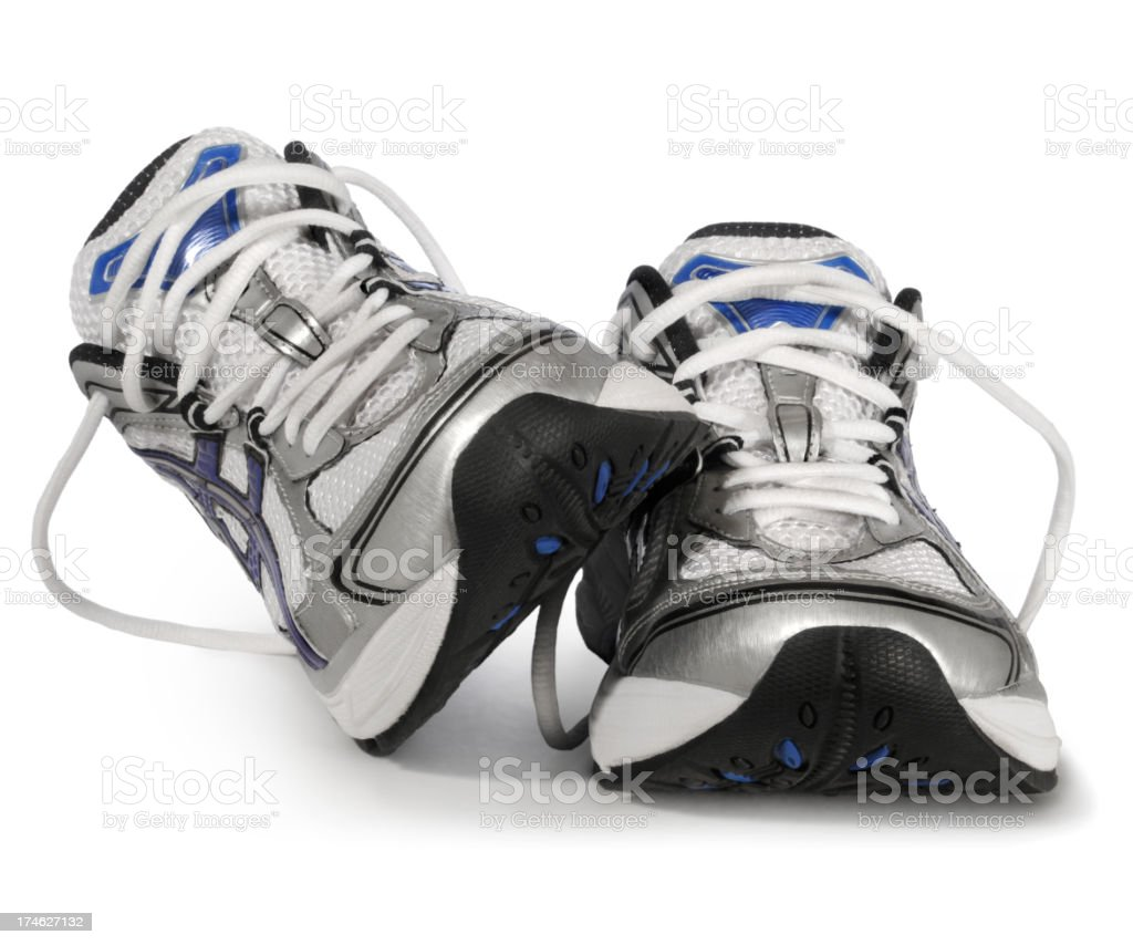 Sports sneakers against a white background royalty-free stock photo