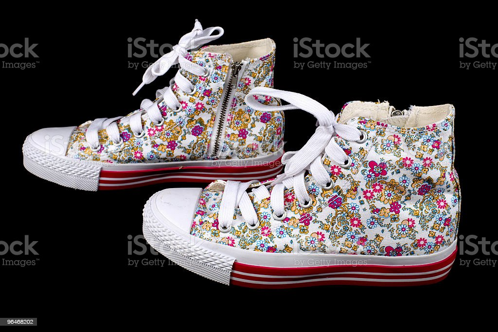 Sports sneakers for girls royalty-free stock photo