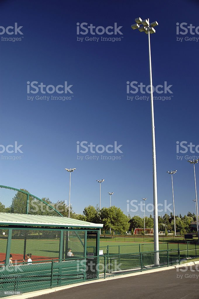 Sports - Softball Field royalty-free stock photo