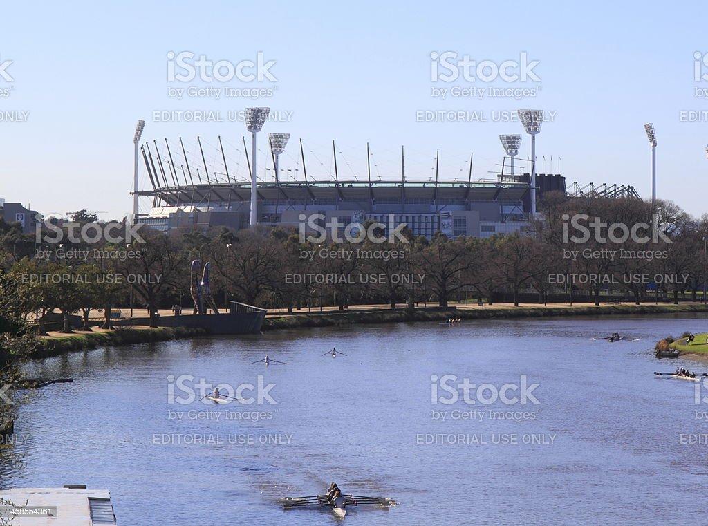 Sports stadium Melbourne stock photo