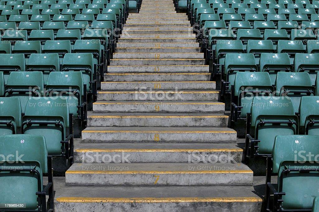 Sports stadium steps royalty-free stock photo