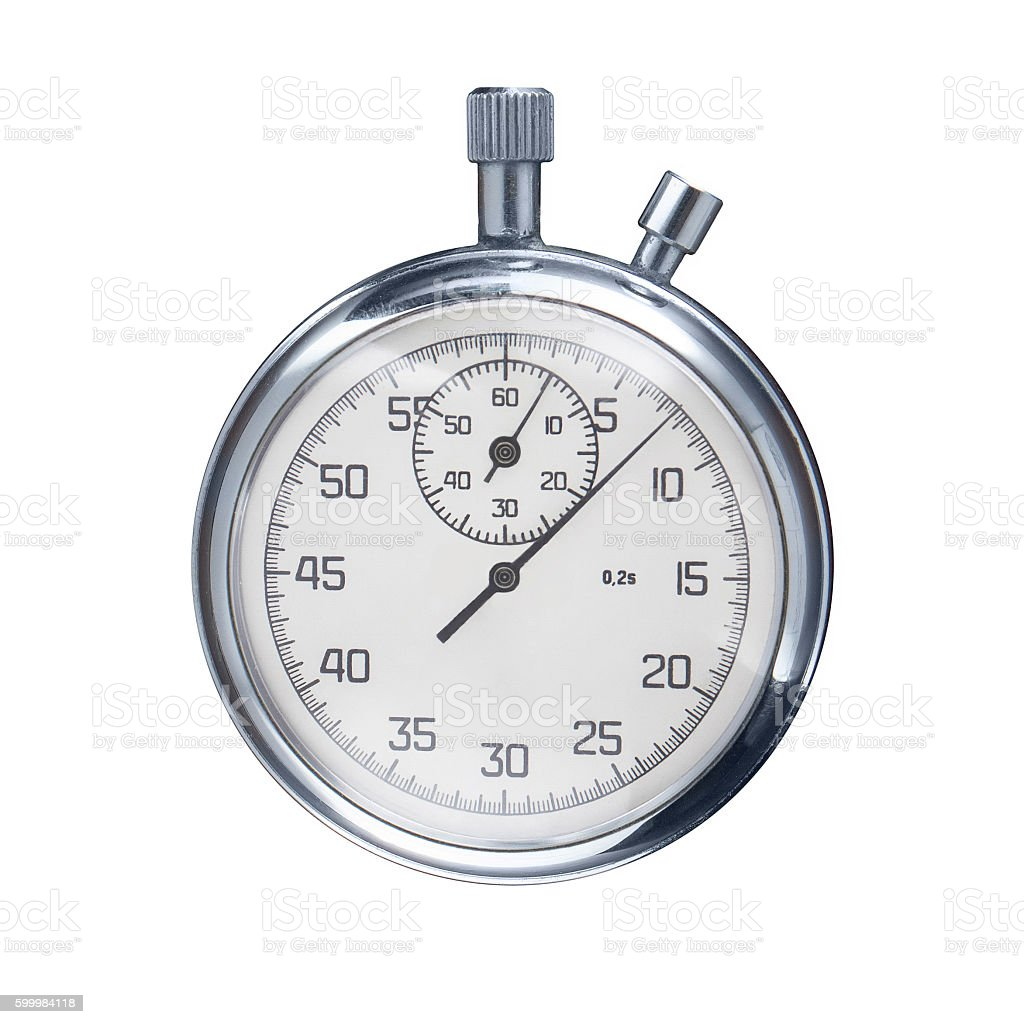 sports stopwatch isolated on a white background stock photo