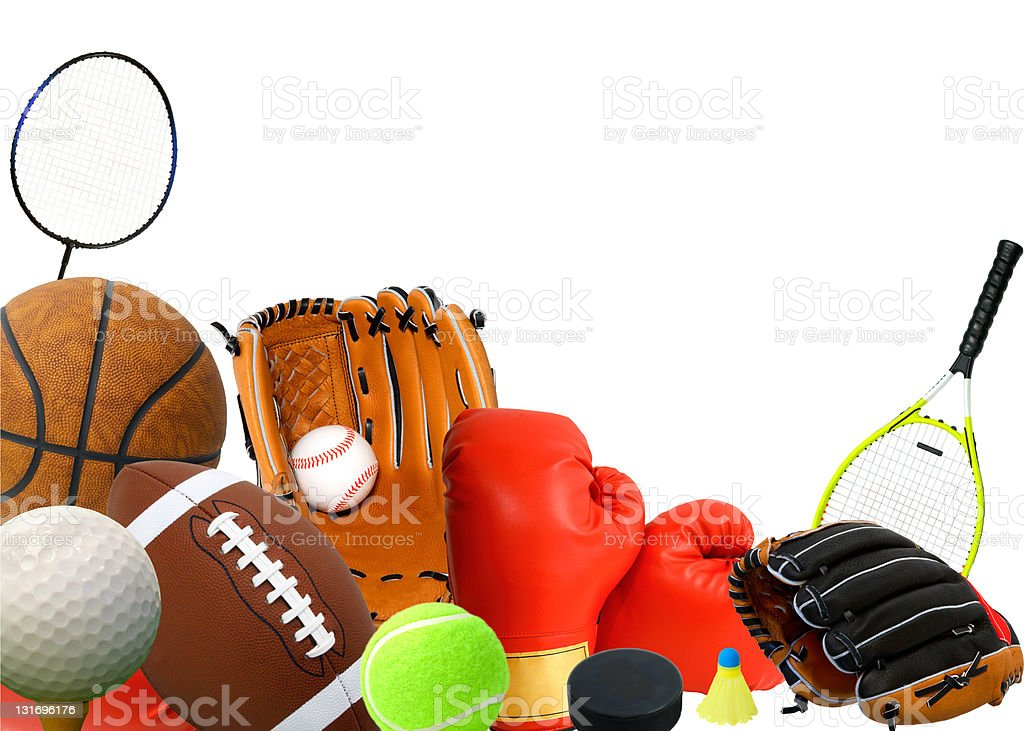 Sports Stuff royalty-free stock photo
