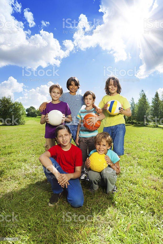 Sports team stock photo
