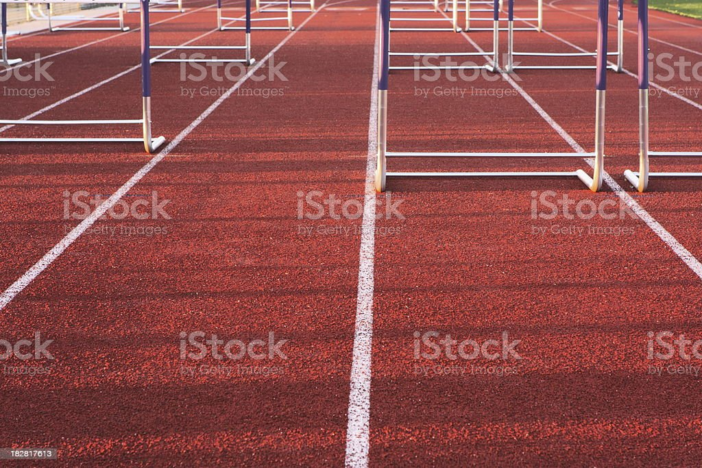 Sports Track Running Hurdle Equipment royalty-free stock photo