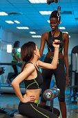 Sports training  Fitness Woman  Small group at the gym