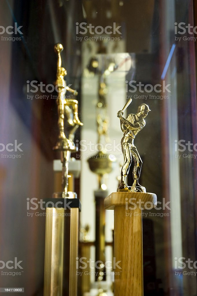 Sports Trophy Cabinet stock photo