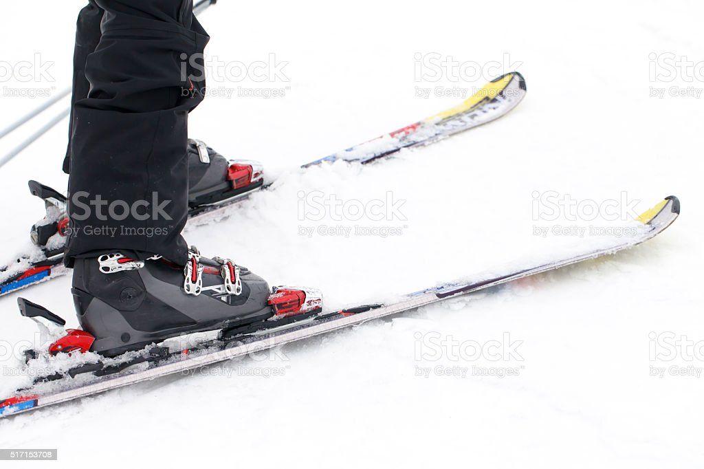 sports, winter, skier stock photo