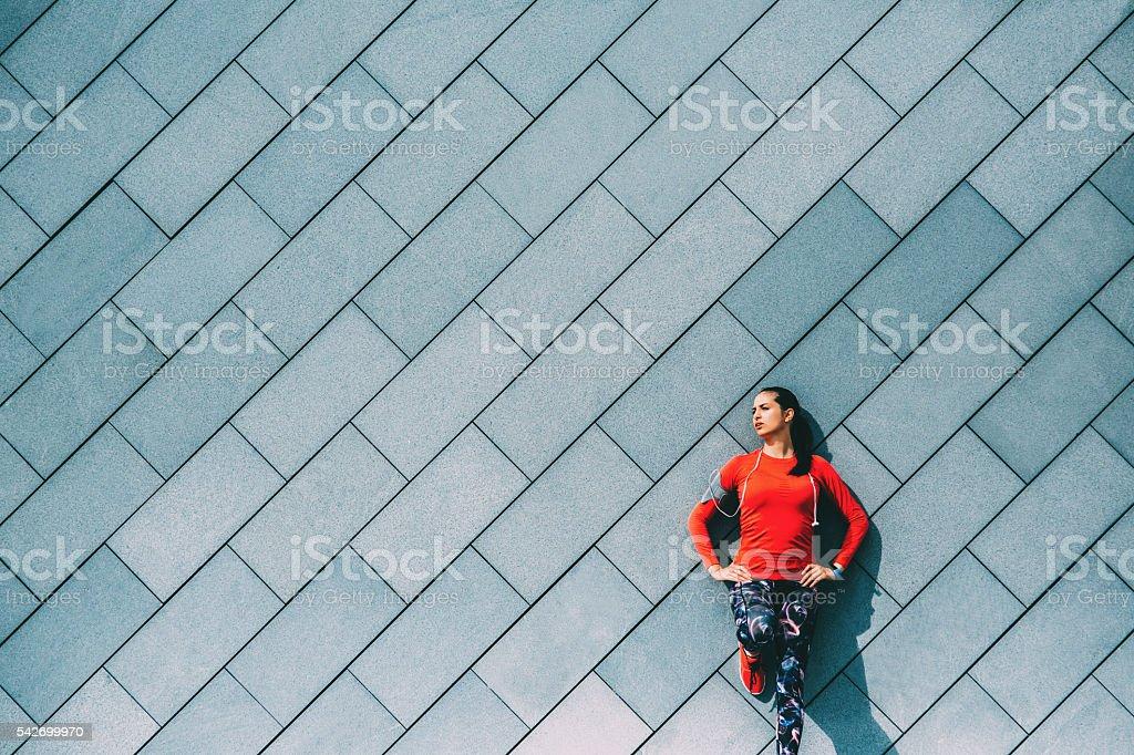 Sports Woman Resting stock photo