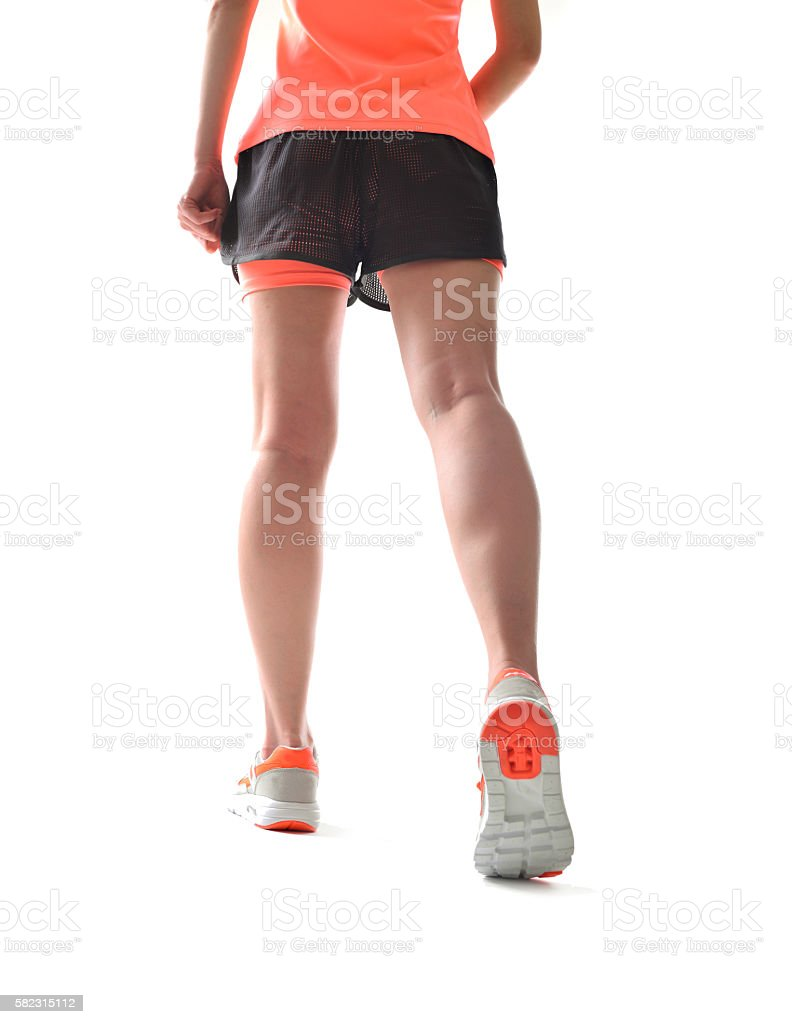 Sports young woman stock photo