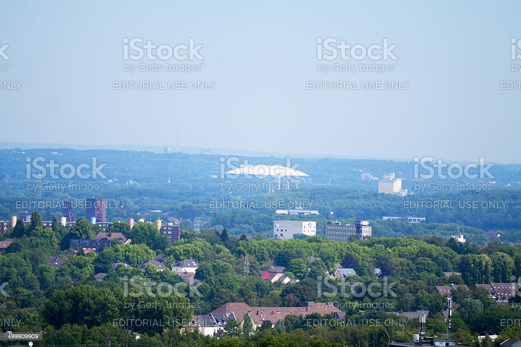 Sportsarena and northeastern Ruhrgebiet stock photo